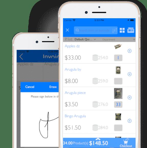 facturación móvil con firma