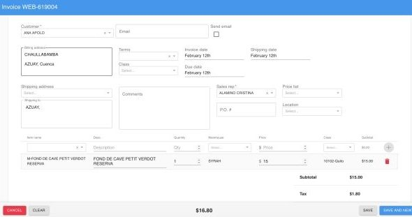 Recortada Optimización de la creación de facturas 2