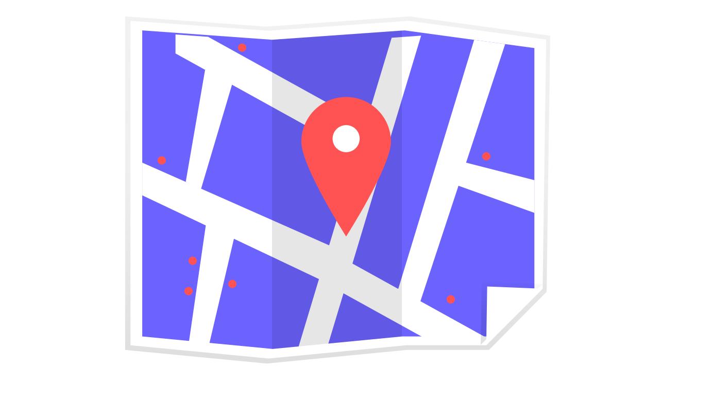 gráfico vectorial de mapa
