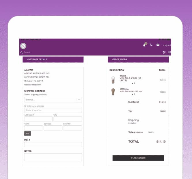 Portal de pedidos B2B