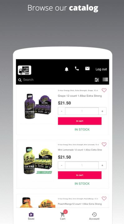catálogo de aplicaciones de ventas b2b